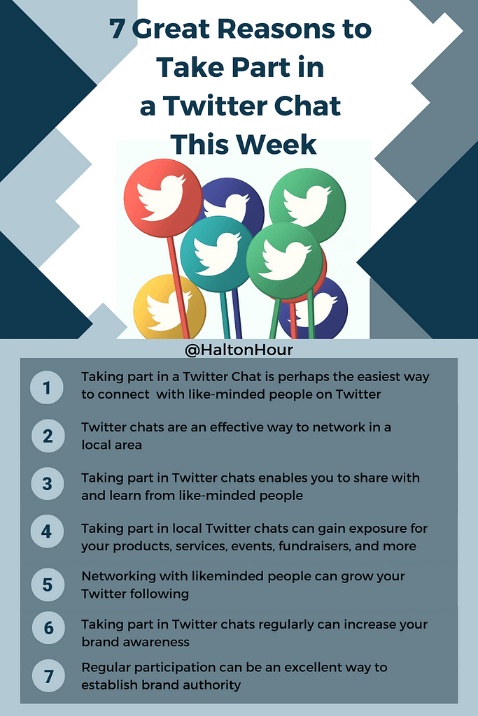 7 great reasons to take part in a Twitter Chat this week
